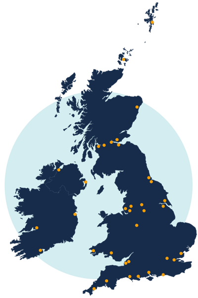 DLG UK Ireland Map